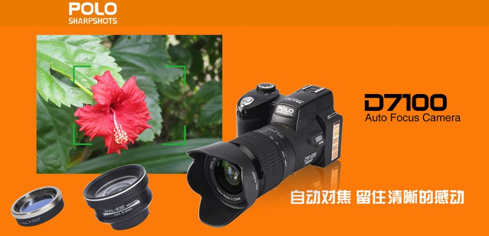 33MP Digital Camera D7100 Full HD 1080P 8X Digital Zoom 24X Optical Zoom Dslr Camera Support Wide Angle Lens