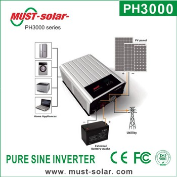 Must Iso Factory Ph3000 Series On/off Grid Energy Storage Inverter Hybrid  Home Solar Inverter 3kw Solar Power System - Buy Solar Inverter 3kw