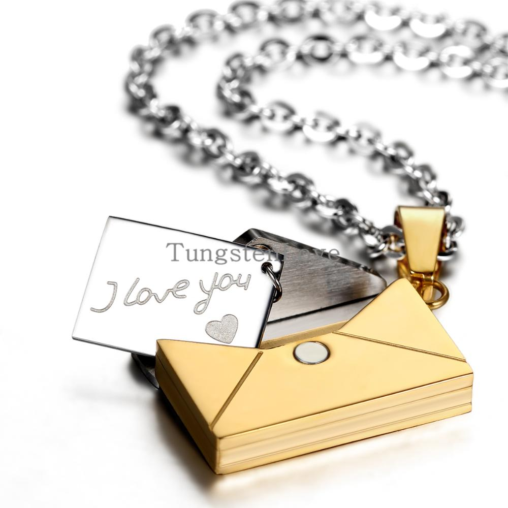 letter gift promotion shop for promotional letter gift on 2015 new openable i love you love letter pendants necklaces korean stainless steel lovers jewelry whole valentine s gift