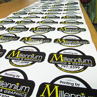 Custom Logo Printed Kiss Cut Vinyl Sticker Sheet,UV Protected Vinyl Material Adhesive Sticker