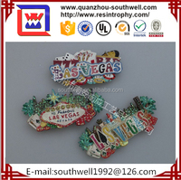 Resin Cheap Custom Las Vegas Souvenir Fridge Magnet