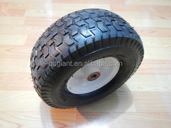 15 inch wide thread pneumatic wheel for lawn mower 6.00-6