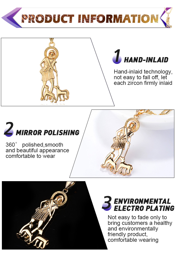 Latest Gift Items Jewelry Trendy Gold Plated Necklace Pendant