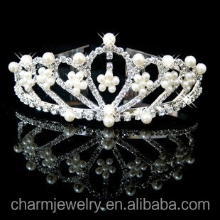 Bridal hair accessories pearl <strong>crown</strong> insert comb aesthetic style XN007
