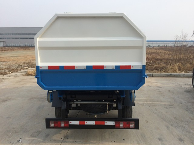 China garbage truck manufacture new condition hydraulic lifter with hook small garbage truck