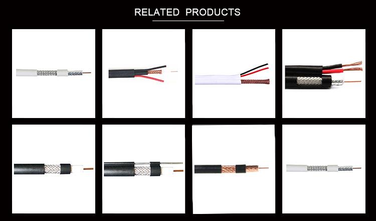 Cable coaxial rg11 rg6 RG59 cable coaxial precio MEJOR PRECIO BC/CCS blindado 19 VATC Cable Coaxial
