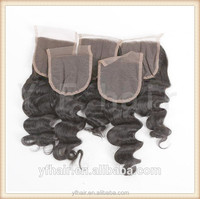 Best selling Brazilian human hair silk base lace closures, cheap price high quality lace closure