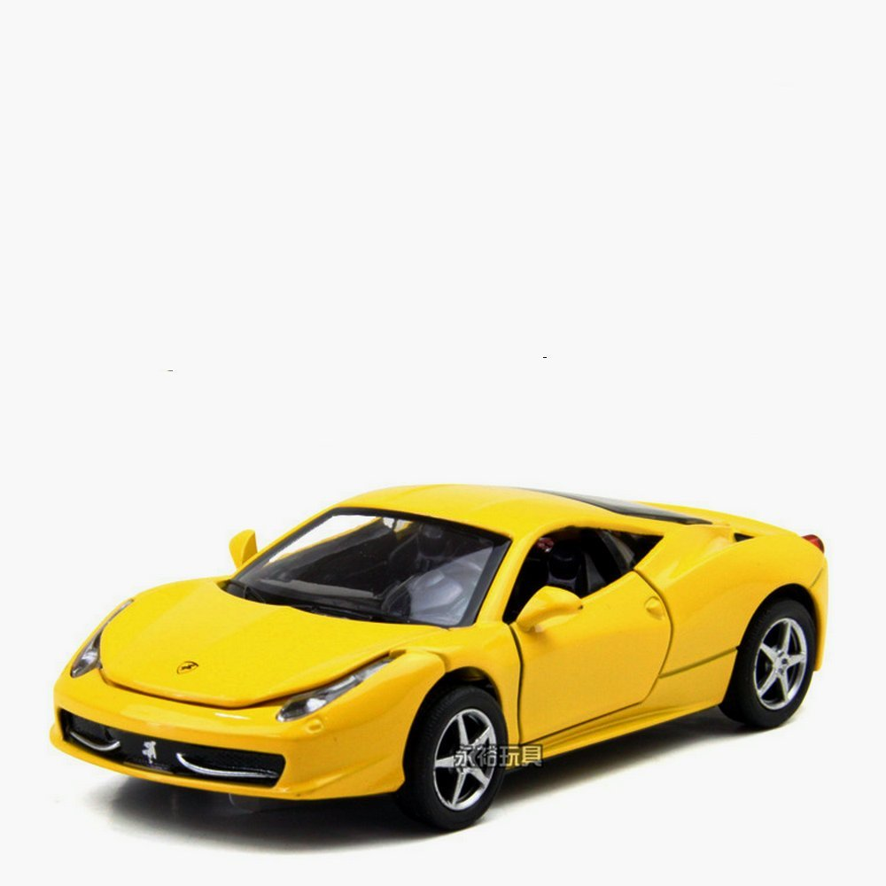 Get Quotations 1 32 Ferrari 458 Alloy Car Model Four Sound And Light Back To The Child