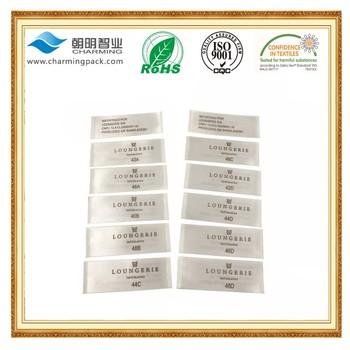 Printed Technics Cheap Custom Clothing Size Labelswashing