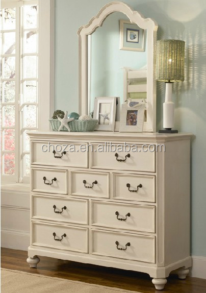F40058A-1 Factory price simple design mirrored dressing table of bedroom furniture