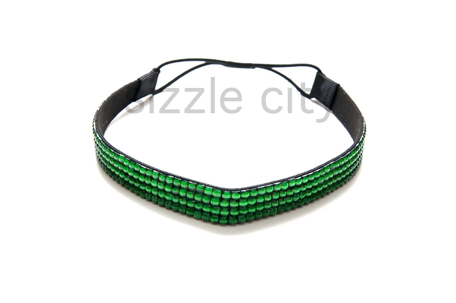 Get Quotations · SIZZLE CITY Custom Color Bling Shimmering Rhinestone Elastic  Stretch Headbands 5386f4cccf9