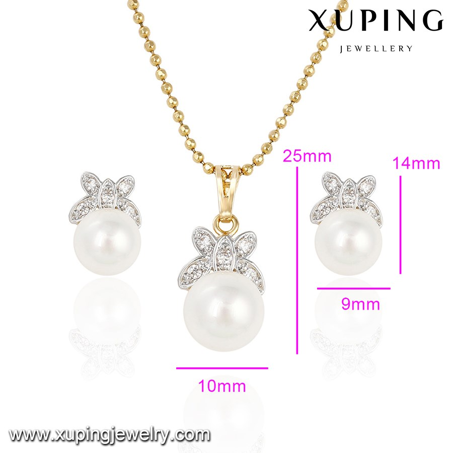 Beautiful design! 63899 Earring/Pendant artificial imitation pearl Jewelry Sets