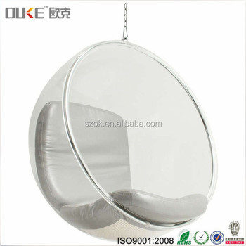 Hot Selling Products Clear Acrylic Hanging Ball Chair With Factory Price