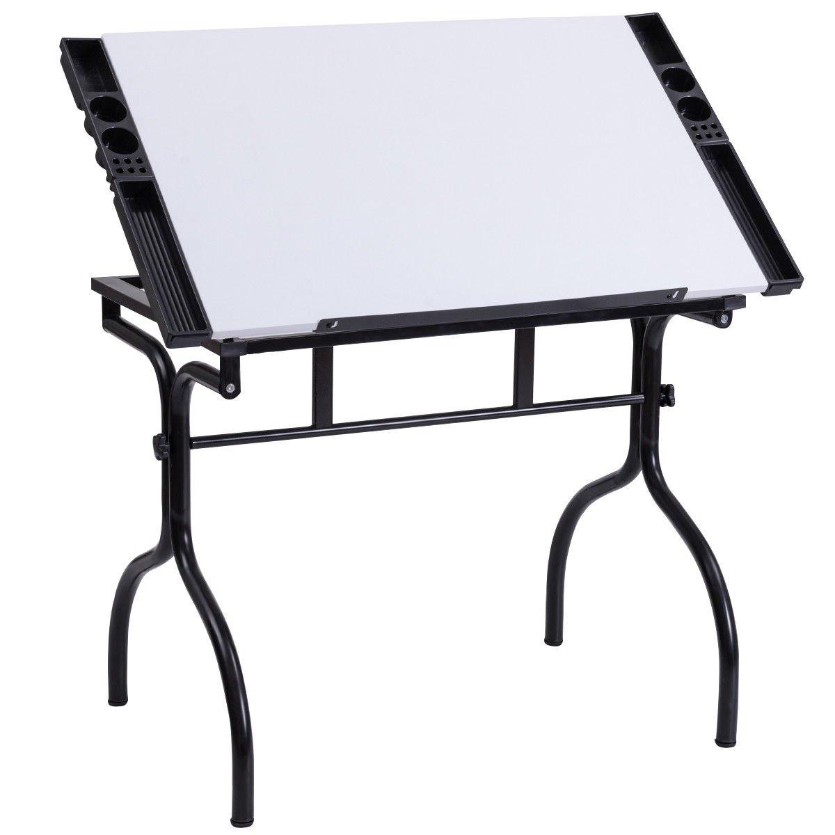 Miraculous Buy Tangkula Adjustable Drafting Table Folding Hobby Studio Creativecarmelina Interior Chair Design Creativecarmelinacom