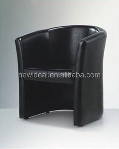 Noir PU En Cuir Moderne Chaise De Bain Pour Salon Canape Style