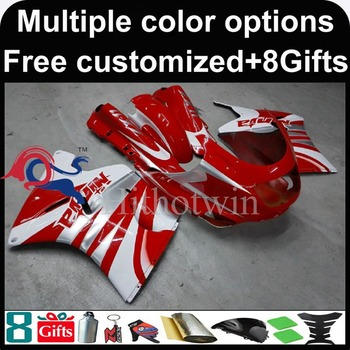 red white Body motorcycle cowl for Kawasaki ZX11R ZZR1100 92-01 92 93 94 95 96 97 ZZR1100 98 99 00 01 02 ABS Plastic Fairing