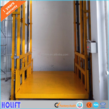 China factory building construction materials lift elevator hydraulic platform lift