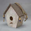 Wood Bird House, Arts And Crafts Country Cottages Bird House, Woodland Cabin Birdhouse Outdoor Decor And Interior wooden