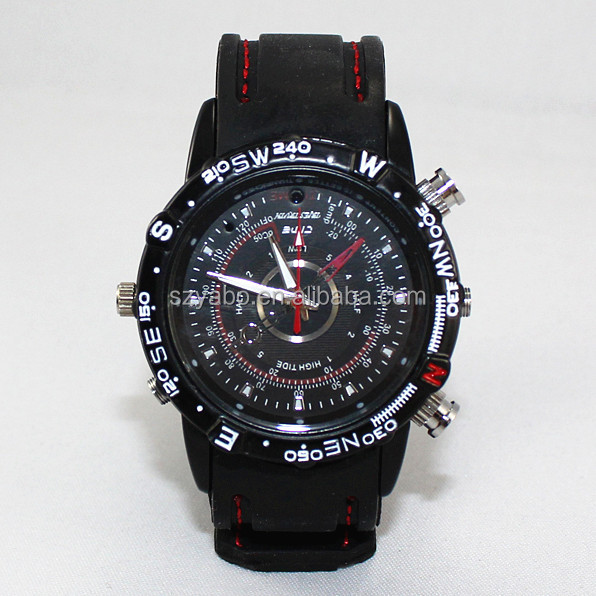 Built-in 8GB Watch Camera waterproof Wrist Watch Hidden Camera with silicone strap