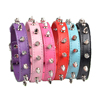 Wholesale pet supplies genuine leather collar barbed nail dog training collar leather