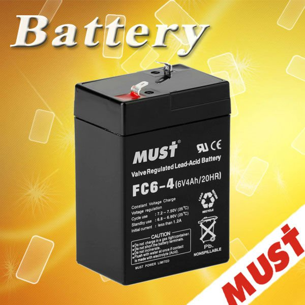Safe & reliable of 6v 4ah rechargeable lead acid battery
