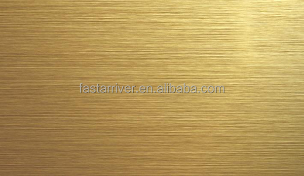 Bright Gold Brushed Sublimation Aluminum Sheet For Blank