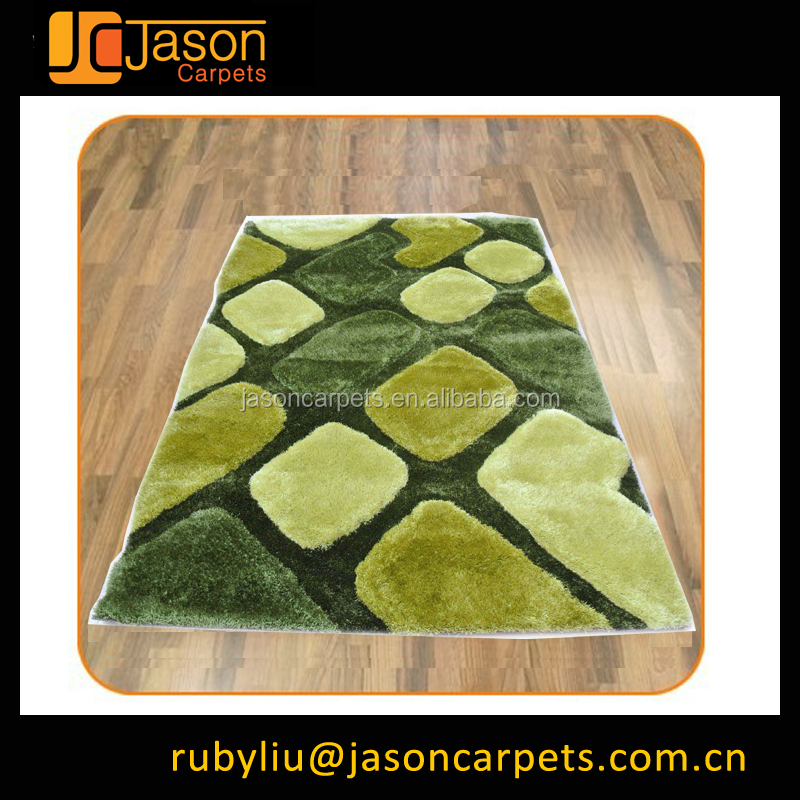 Children age group 3D floor polyester shaggy rugs