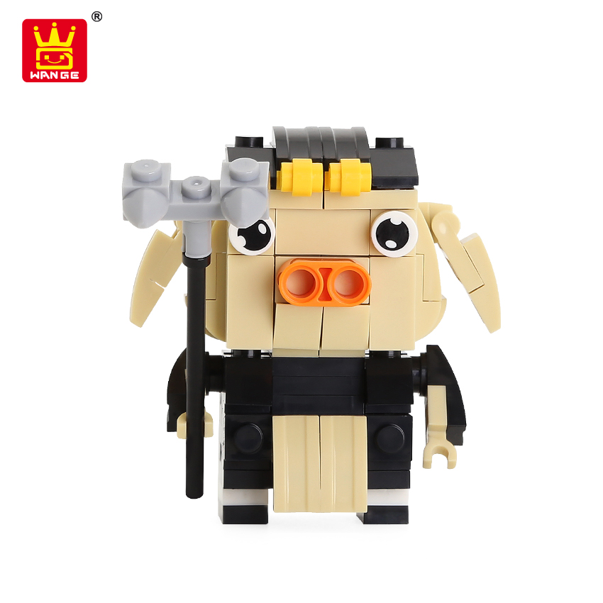 China wholesale toys wange surprise capsule mini character-Zhu Bajie small building block toy for children educational