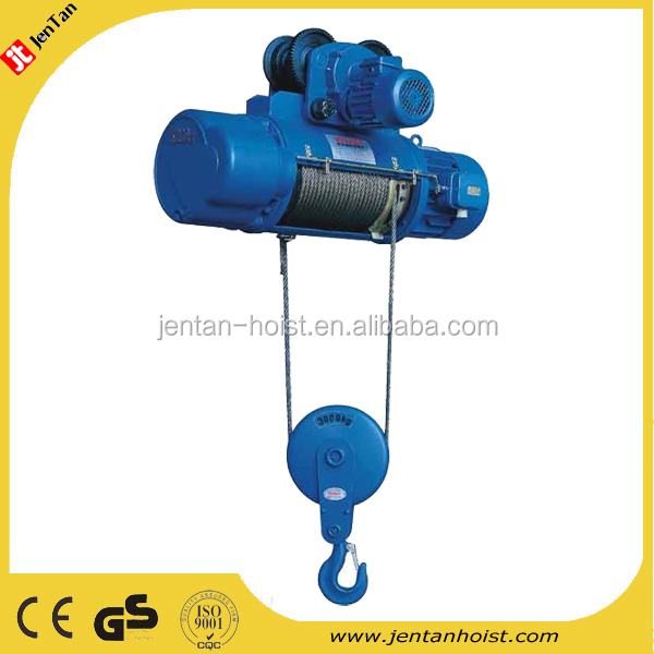 3 ton wire rope electric chain hoist hook suspension