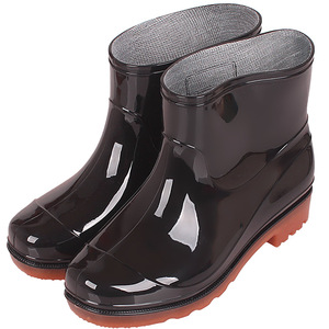 New product men waterproof rain boots cheap PVC garden rain boots