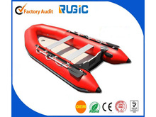 PVC CE Certificate New Style High Quality HIgh Speed Aluminum Floor Catamaran Inflatable Speed Boat
