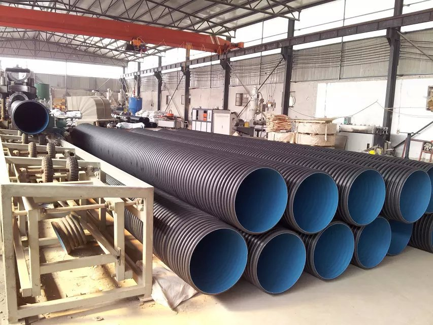 200mm to 800mm grand diameter plastic HDPE double wall corrugated sewer drain pipe