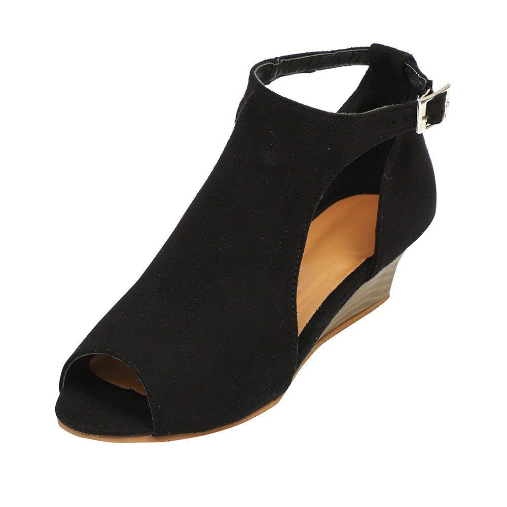 f35ca9026f1b Get Quotations · Faber3 Hot Sale Sandals for Women-Women s Platform Wedge  Sandals Peep Toe Sandals Ankle Strap