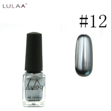 2018 Hot selling 6ml metal silver mirror nail polish & base gel with unecpected effect peel off nail polish