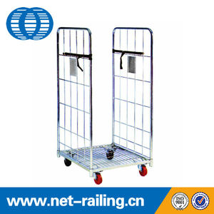 Shopping industry nestable collapsible outdoor roll cart