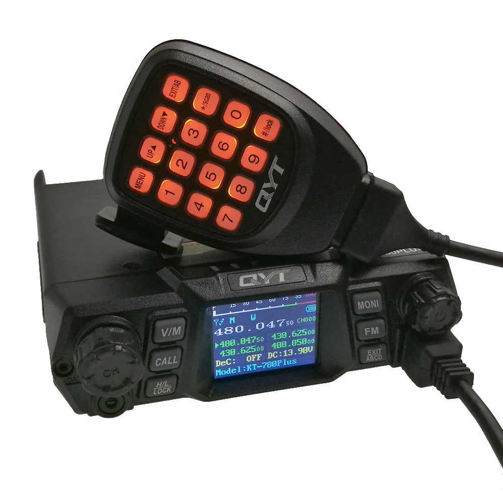 QYT KT-780 Plus 100Watts Mobile Radio High Power VHF 136-174mhz Ham Car radio Transceiver 200channels Long range <strong>communication</strong>