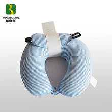 U Shape Head Protection Neck Rest Travel Foam Pillow With Eyemask