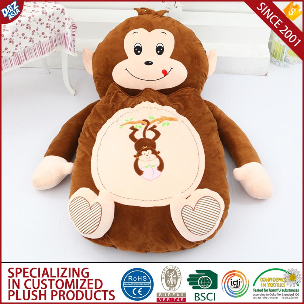 Large Plush Monkey Toys Tatami Bed Giant Stuffed Animal Bed