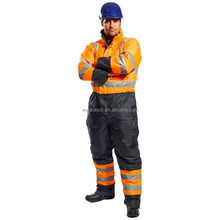 300-denier Polyester Oxford Fabric Water-repellent Hi Vis Working Coveralls