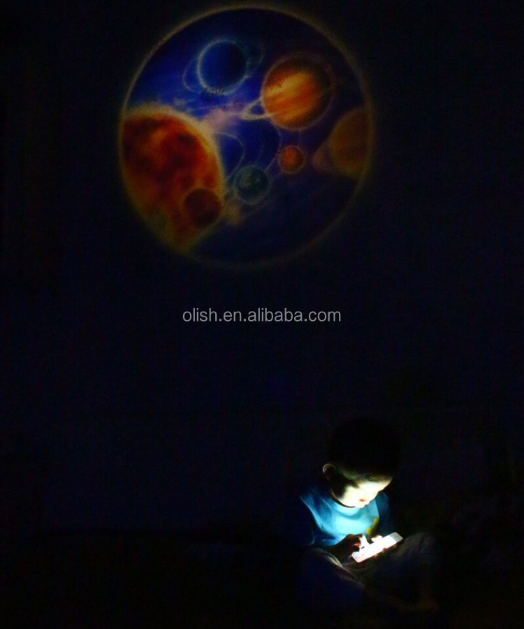 Light Activated Led Solar System Projector Night Light ...