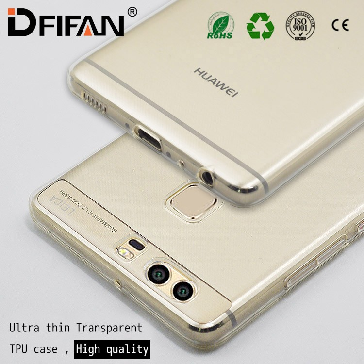 Factory price for huawei p9 cover case ,ultra slim transparent clear TPU mobile phone case for huawei p9