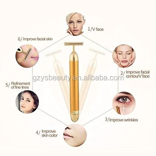 Persönlichen Gebrauch 24 karat Gold Gesichts Roller Schönheit Bar Für Hautpflege