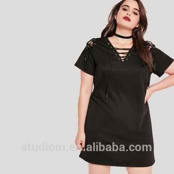 Long Tops Design Plus Size Clothing Fat Women Plus Size Dress