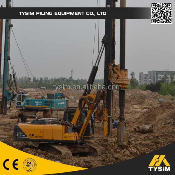 TYSIM hydraulic pile driving machine KR260A, pile driver, ground hole drilling machine with factory price for sale