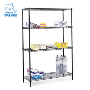 "NSF & ISO Approved Brand NEW Alera Industrial Wire Shelving 4 Shelves 48"" x 24"" x 72"" Black"