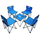 Foldable camping tables and 4 chairs sets VLA-6057B