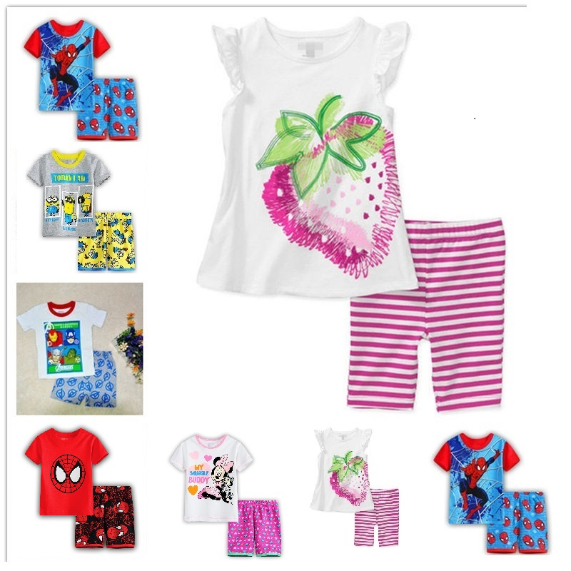 New Hot Sale Summer Kids Boys love T Shirt Shorts Set Children Short Sleeve Shirt Clothing
