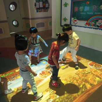 ChariotTech interactive floor projection for kids, wedding decoration, shopping mall.
