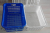 Nestable and stackable plastic crate with handle for vegetable and fruit plastic basket