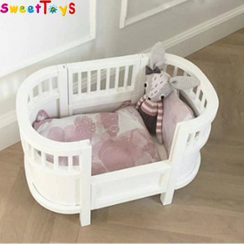 China Manufacturer House Toy Beds Woodenbaby Doll Mini Bed